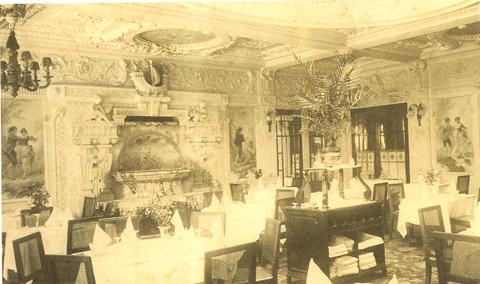 La salle de rentaurant du Bedtford, décembre 1918